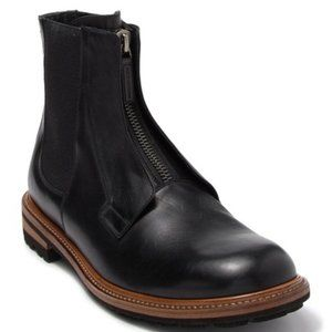 NEW Dolce & Gabbana Leather Zip Mid Boot 43.5